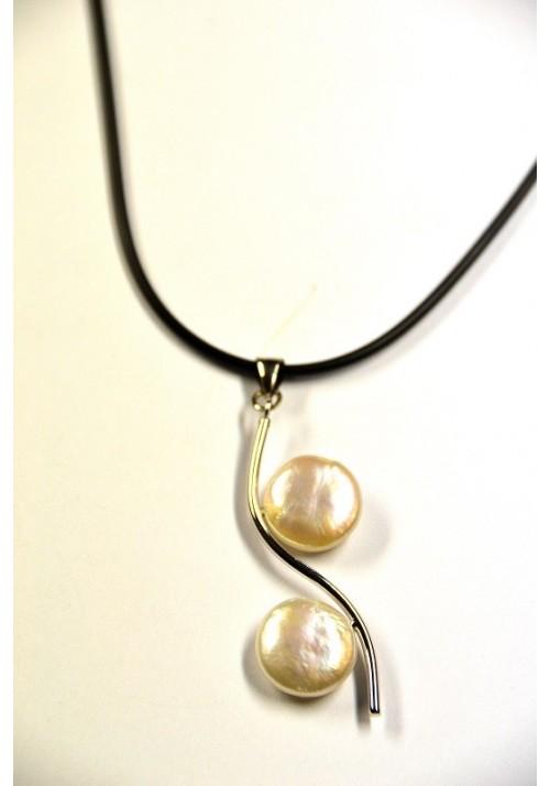 Gargantilla de perlas naturales