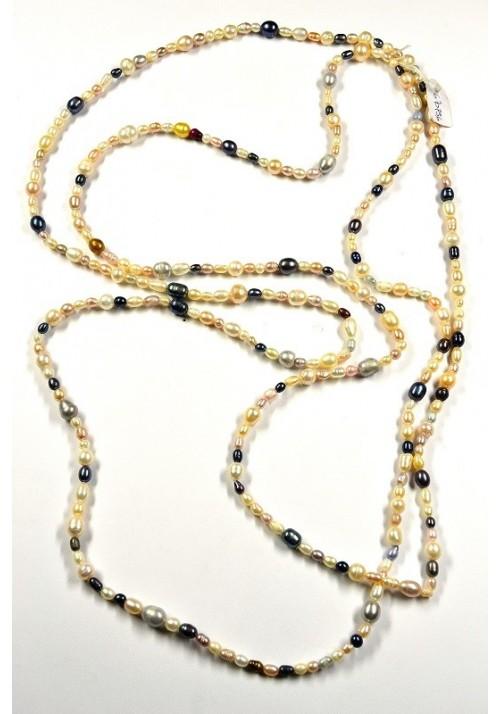 Collar de Perlas naturales de colores