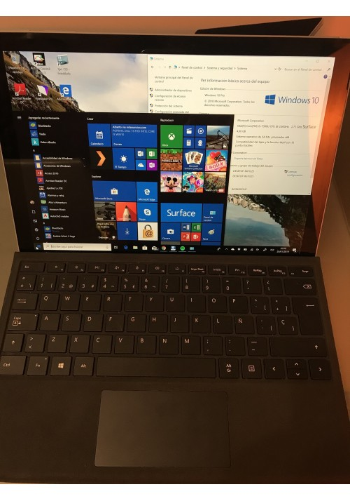 Microsoft Surface Pro 5 Intel Core i5 128GB SSD 4GB + Funda Teclado