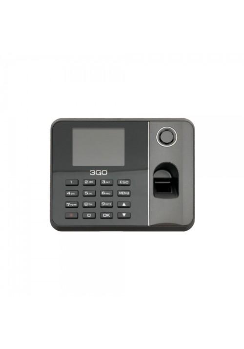 """3GO - Control de presencia AS100 - Huella digital + Contraseña - Pantalla 2.8"""" - 1000 usuarios - 100k registros - USB"""