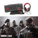 Trust - Bundle Gaming - Teclado + Raton + Alfombrilla + Auricular + Juego Rainbow Six Siege