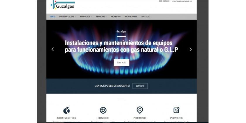 GUZALGAS New Web Design